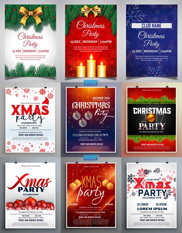 9-mau-to-roi-tiec-hoi-don-mung-giang-sinh-christmas-posters-vector-8287