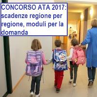 scadenze e moduli per il concorso personale ata della scuola 2017