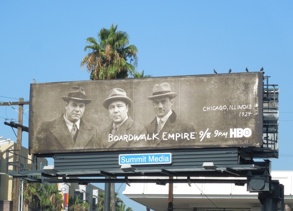 Boardwalk Empire season 4 Chicago 1924 billboard