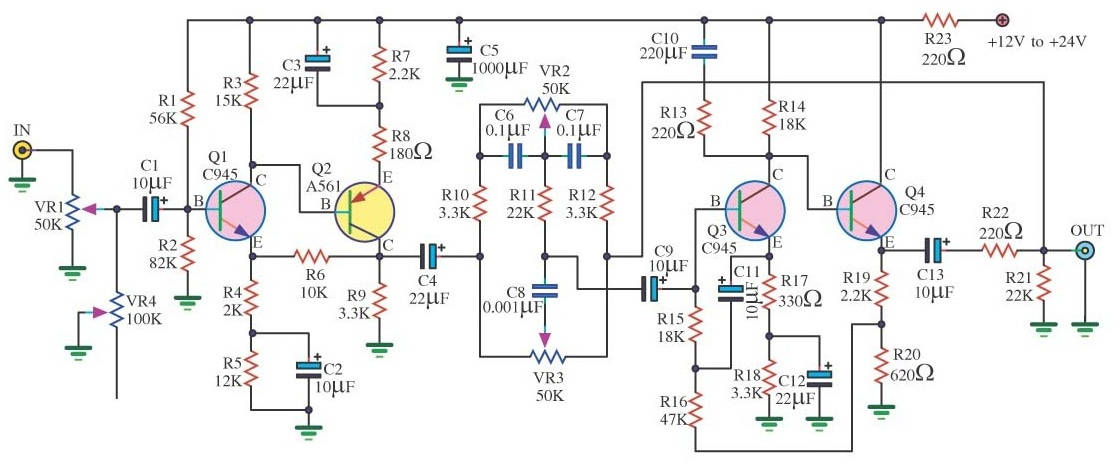 Make a Complete Power Amplifier for Home - Electronic Circuit