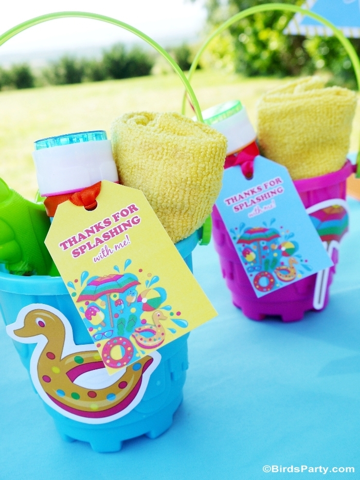Pool Party Favors Ideas pool party favors ideas tween party favor ideas summer pool party cheetah tween pool party swish Pool Party Ideas Printables Kids Summer Party Birdspartycom