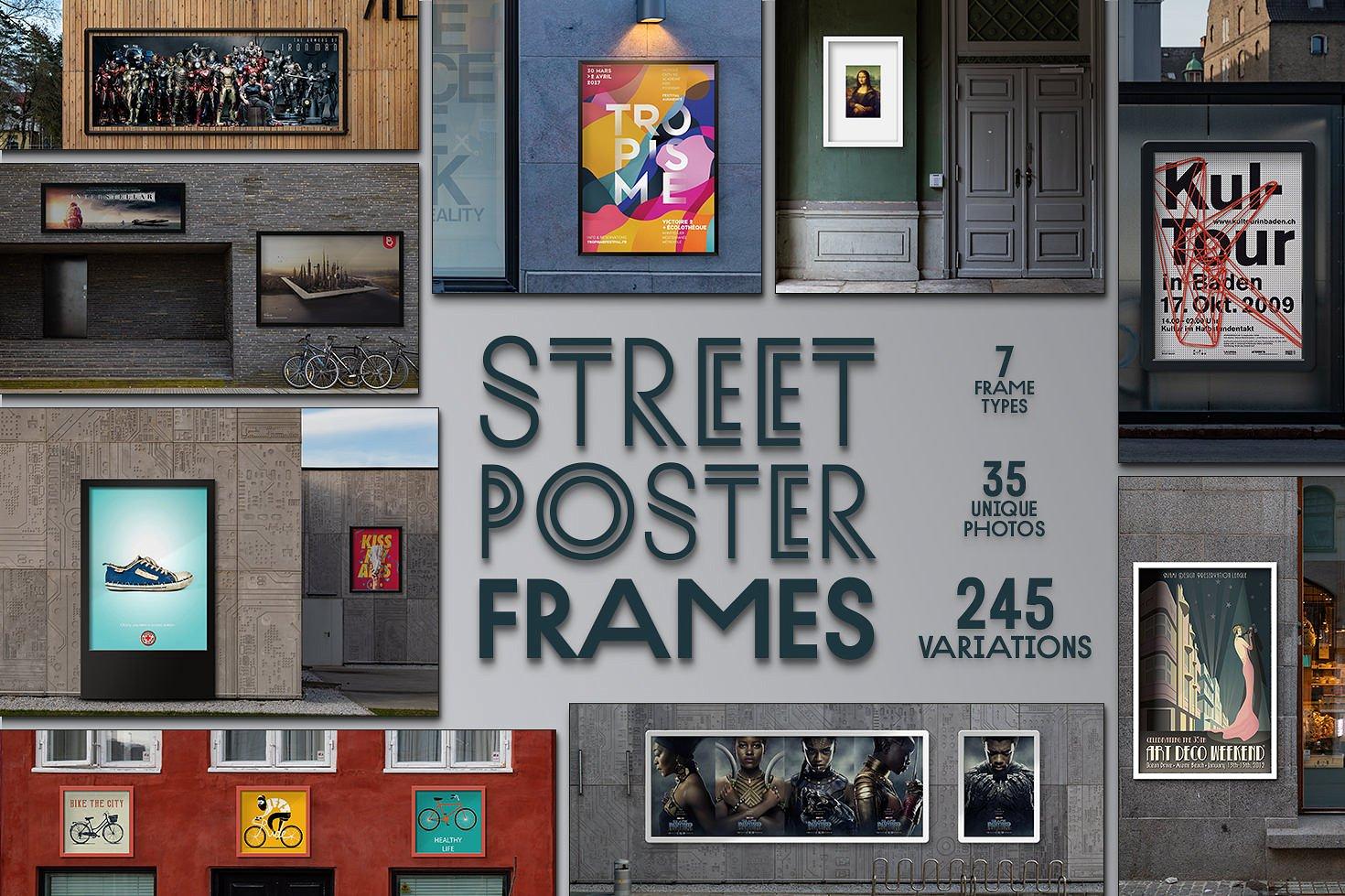 Street Poster Frames Mockup