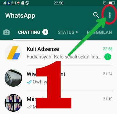 Cara setting agar whatsapp tidak terlihat online