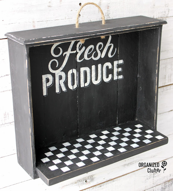 An Upcycle Of A Repurposed Drawer Shelf #drawerrepurpose #upcycle #dixiebellepaint #stencil