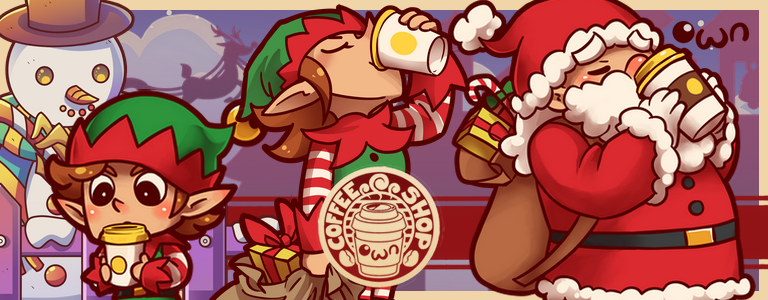 Enjoy Christmas Eve in Toy Village and Coffeeland!