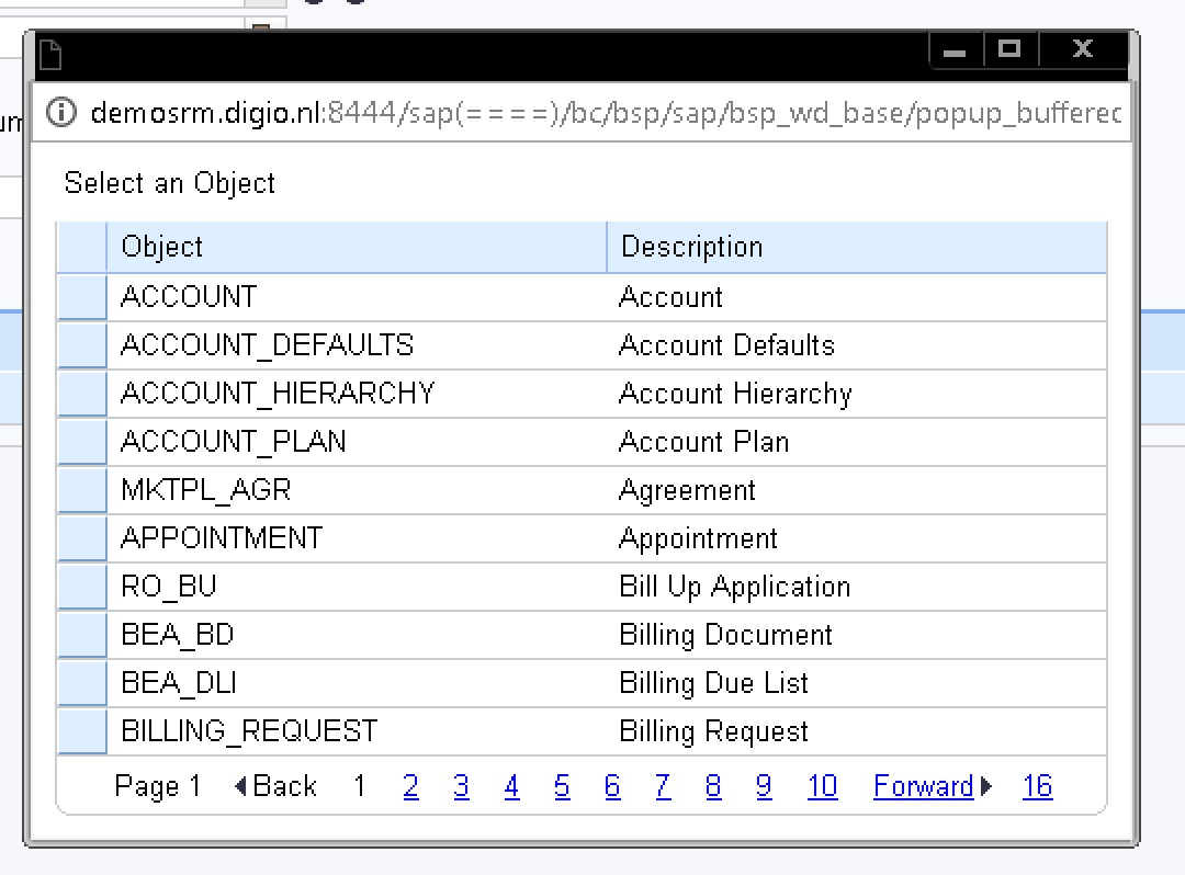 Creating tables with the AET in SAP CRM - Acorel