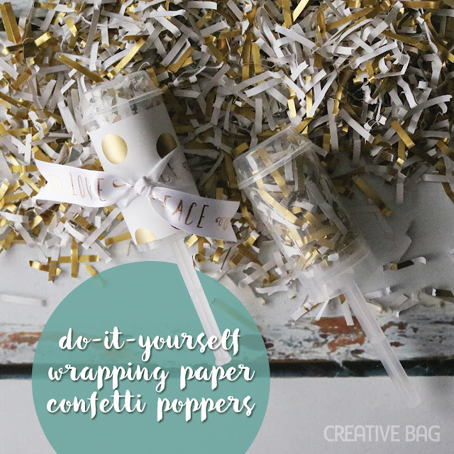 diy wrapping paper confetti poppers | Creative Bag