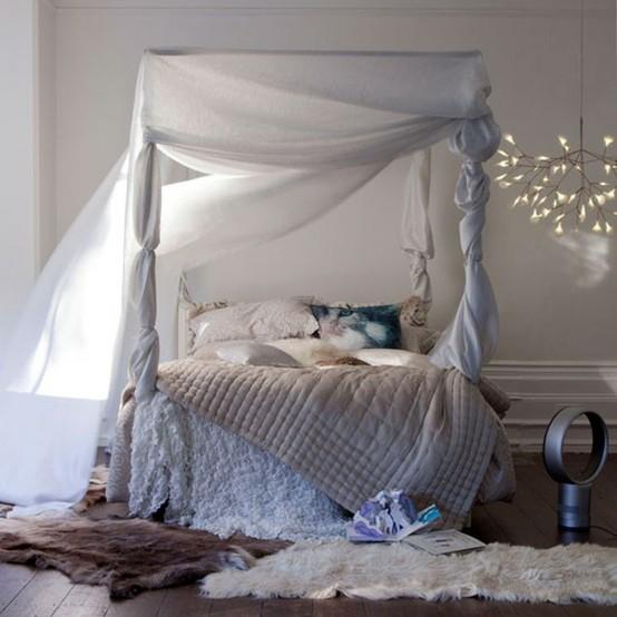 Maison doux shabby bedroom - Letto baldacchino bambina ...