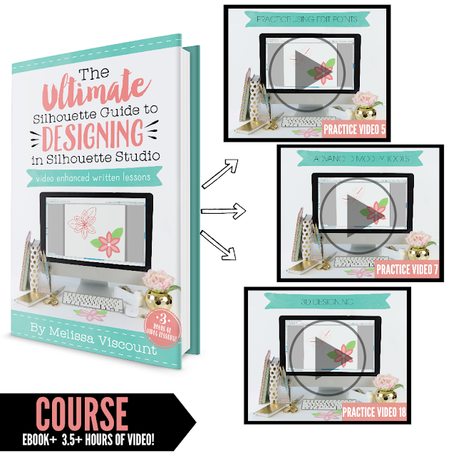 learn how to design in Silhouette studio, design your own cut files silhouette, silhouette cameo class, silhouette studio online class, silhouette studio video course