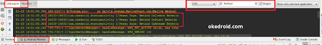 Log di Android Studio