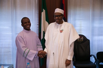 After Buhari Recovered From E.N.T Ailment...Read What Fr. Mbaka Said