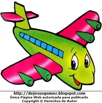 Dibujo de avion a color para niños por Jesus Gómez