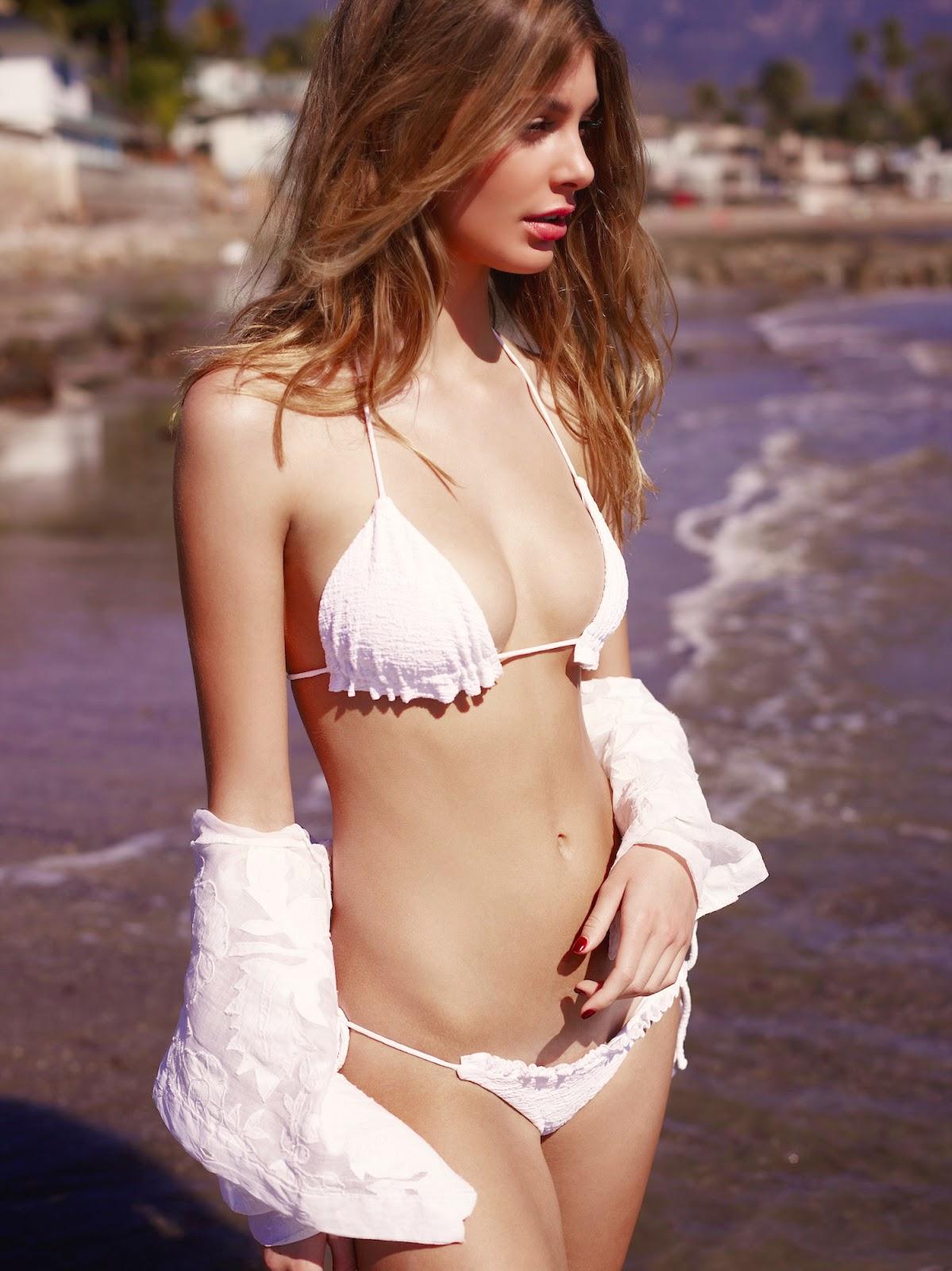Cotton dip front bikini