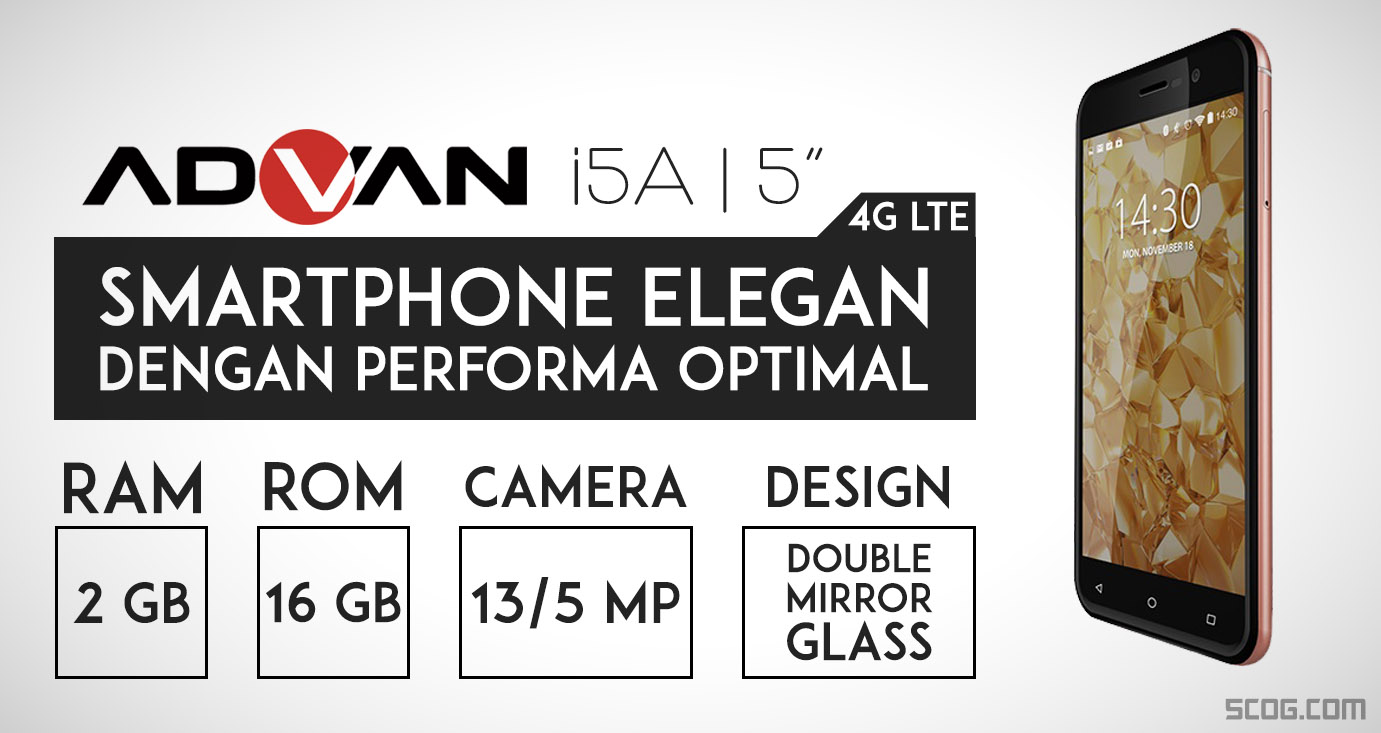 Advan i5A 4G LTE, Smartphone Elegan Dengan Performa Optimal