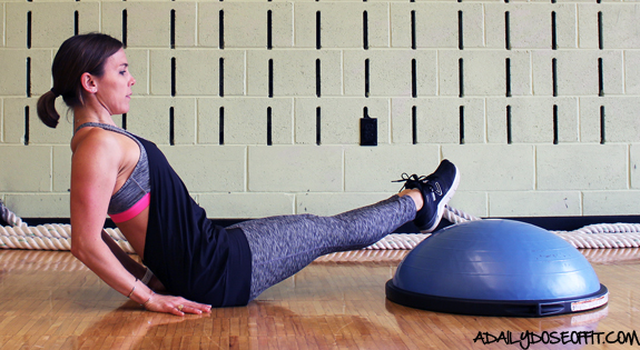 core exercises, workout, BOSU, abs, abdominal muscles