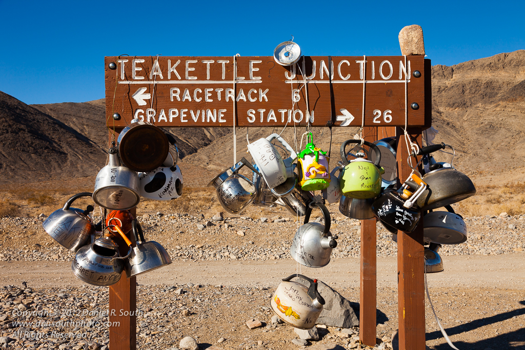 a photo of teakettle junction in death valley by daniel south