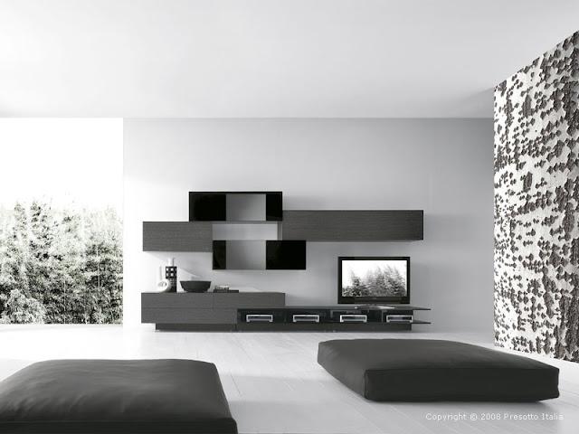 Black and white modern living room designs Black and white modern living room designs white living room design 005