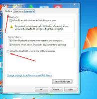 Cara Menampilkan Icon Bluetooth Yang Hilang di Taskbar Windows 7