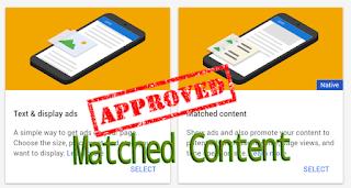 Cara Mendapatkan Matched Content AdSense