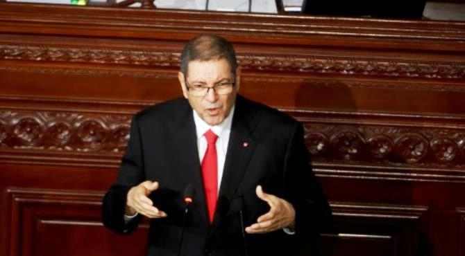 Tunisian Prime Minister Habib Essid delivers a speech at the Tunisian Parliament on July 30, 2016 in the capital Tunis. By Fethi Belaid (AFP)  Tunis (AFP) - Tunisian Prime Minister Habib Essid on Saturday overwhelmingly lost a confidence vote in parliament, after just a year and a half in office