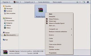 Reset printer Epson L210 error pads full end life | en Rellenado