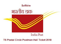 TS Postal Circle Postman Hall Ticket