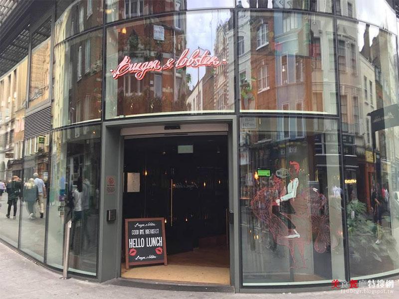 [英國] 倫敦/萊斯特廣場【Burger & Lobster】整隻1.5bl烤龍蝦 經典多汁美味呈現