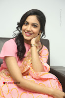 Actress Ritu Varma Pos in Beautiful Pink Anarkali Dress at at Keshava Movie Interview .COM 0318.JPG