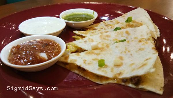 Mexicali quesadilla - Bacolod restaurant