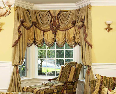 The best types of curtains and curtain design styles 2019, Austrian curtains