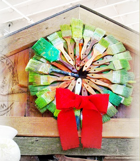 Dishfunctional Designs Upcycled Christmas Wreaths That