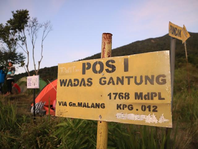 Pos 1 wadas gantung gunung slamet via gunung malang, purbalingga foto blog Perindu Jejak