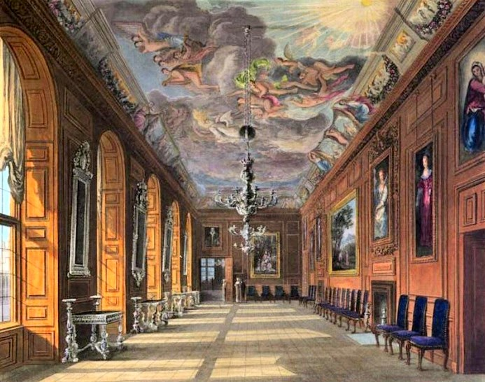 Ballroom, Windsor Castle  from The History of the Royal Residences by WH Pyne (1819)