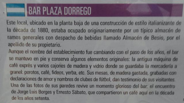 Bar Plaza Dorrego, San Telmo, Buenos Aires