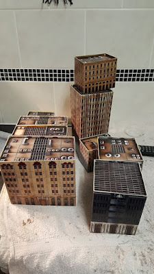 The wife very kindly built my card building from the second starter set and reinforced the with foamboard. picture 2