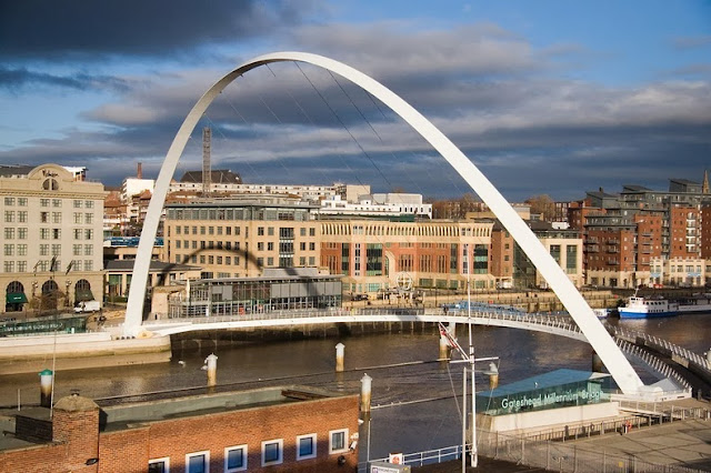 puente inclinable Gateshead Millennium