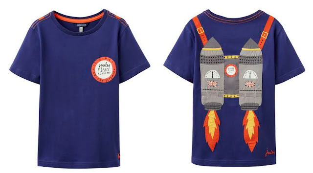 Joules Spring Fashion for children Boys Space Rocket Pack t-shirt