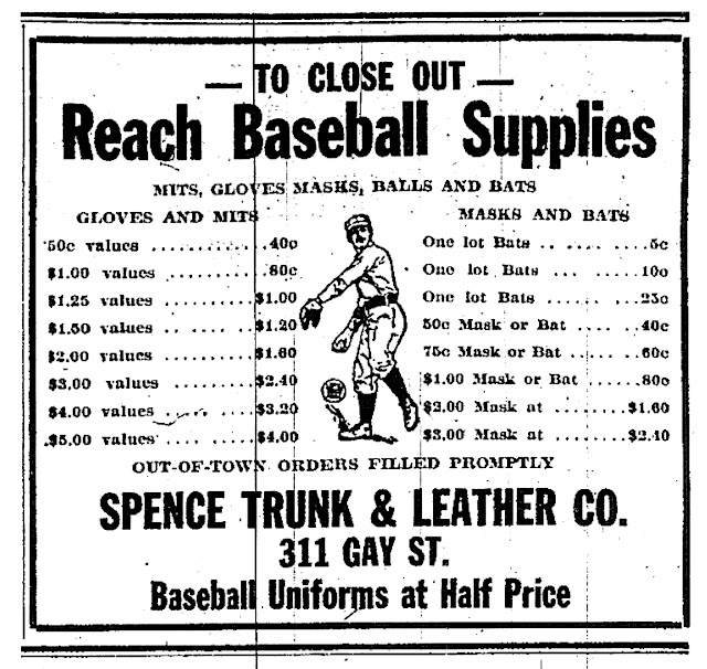 Old Knoxville Base Ball: Reach Baseball Supplies