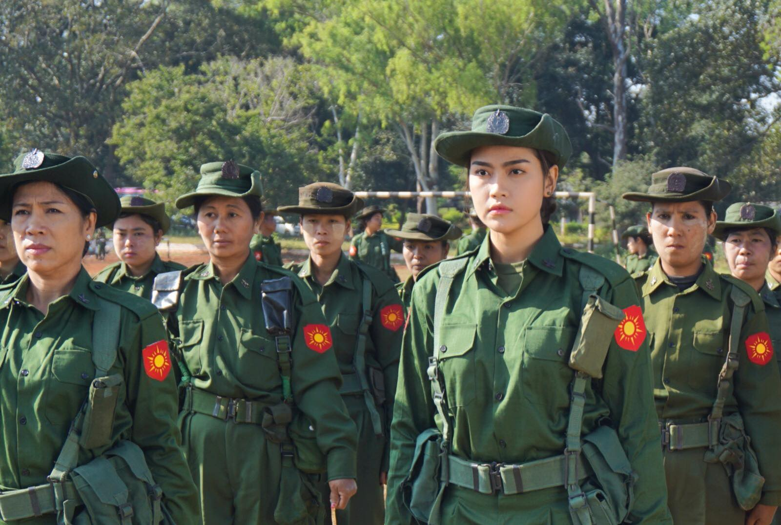 Ei Chaw Po Stars In Myanmar New War Movie : Behind The Scenes