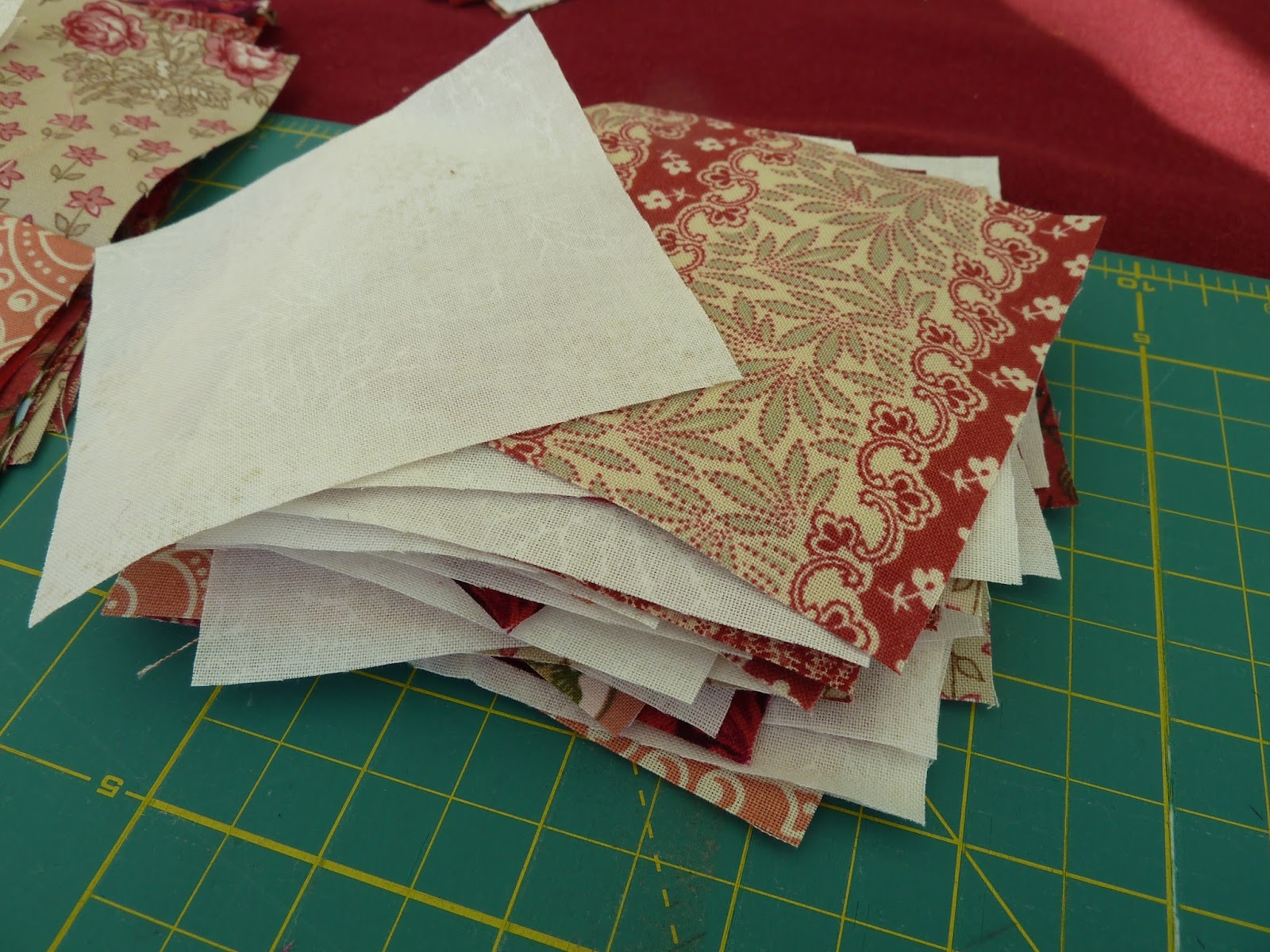 Judi Knits And Sews Red Ohio Star Quilt