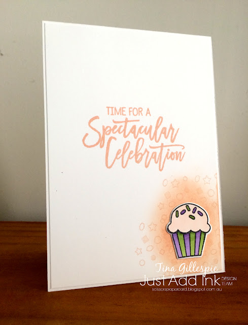 scissorspapercard, Stampin' Up!, Just Add Ink, Birthday Cheer, Detailed Birthday Edgelits, Stampin' Blends