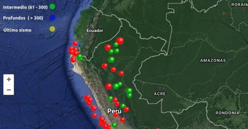 Sepa cuántos sismos ha habido en todo el Perú en 2017 - IGP - www.igp.gob.pe