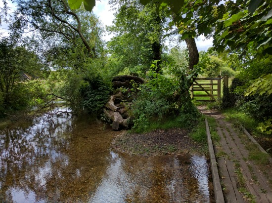 Photograph of a footbridge over the River Mimram on Walk 55: Ayot North East Loop