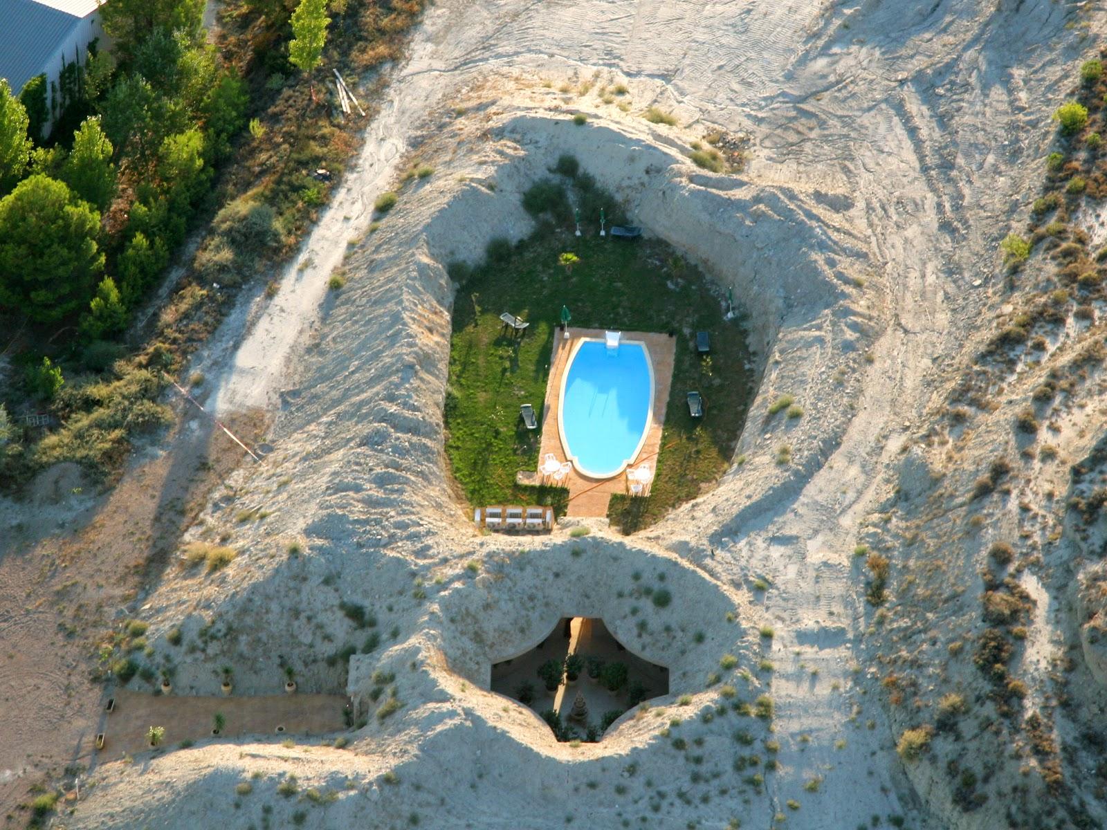 Vista au00e9rea del Hotel Cueva Tardienta Monegros