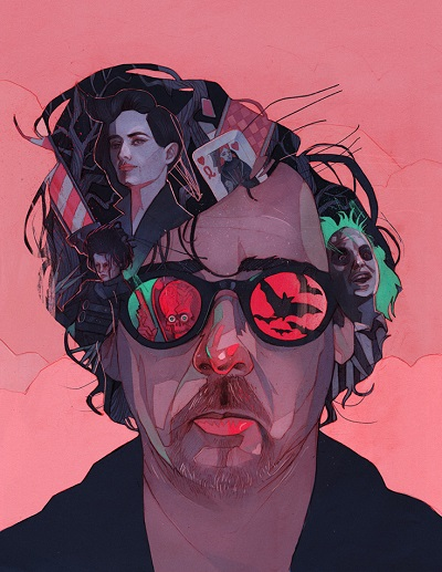 """Tim Burton"" by Patryk Hardziej, 2017 