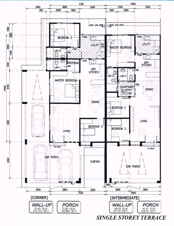 Fabulous Avenue Miri Show House Miri Property Market – Single Storey Terrace House Floor Plan