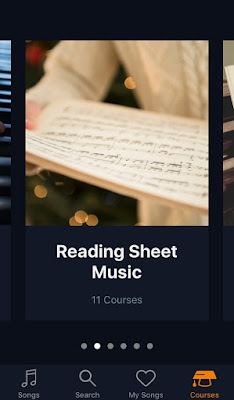 Courses page swiped