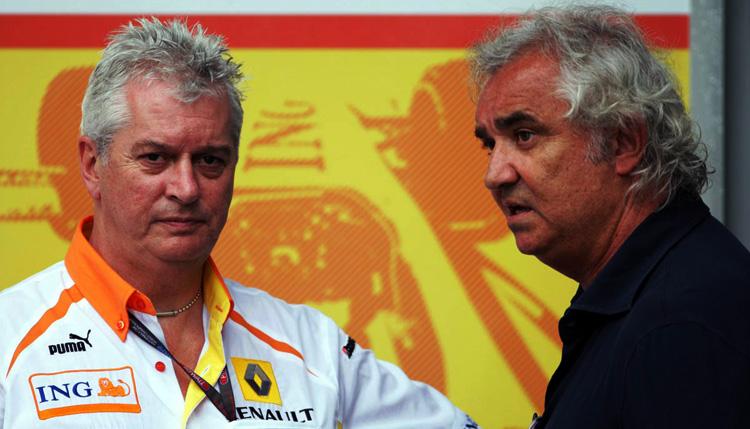 Pat Symonds y Flavio Briatore, implicados en el crashgate con Renault en 2009