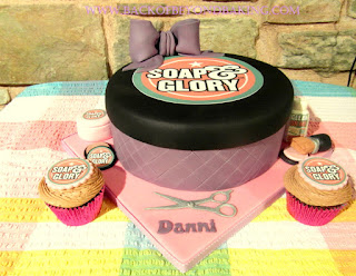 Soap and glory box cake
