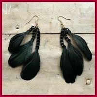 Pendientes de plumas